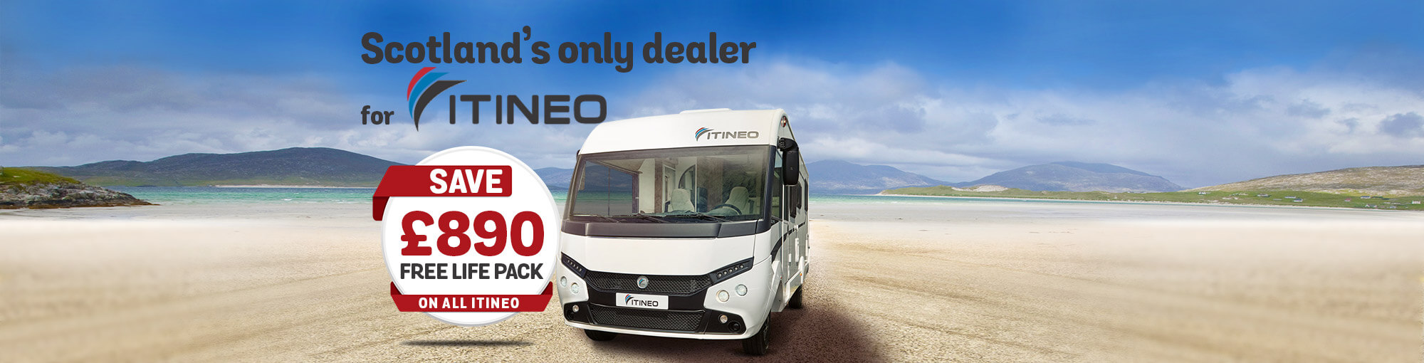 Itineo save £890 free life pack