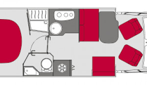 Pilote Pacific P740 FC New Motorhome Layout