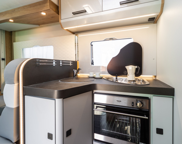 2020 Roller Team T-Line 590 (Automatic) New Motorhome kitchen