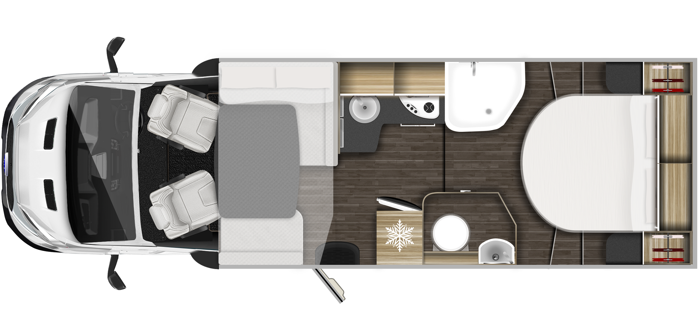 2020 Roller Team Zefiro 696 Motorhome layout