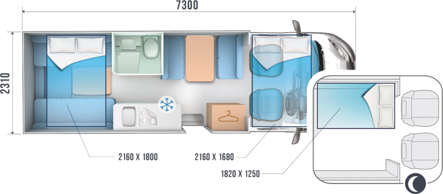Roller Team Zefiro 690 floorplan