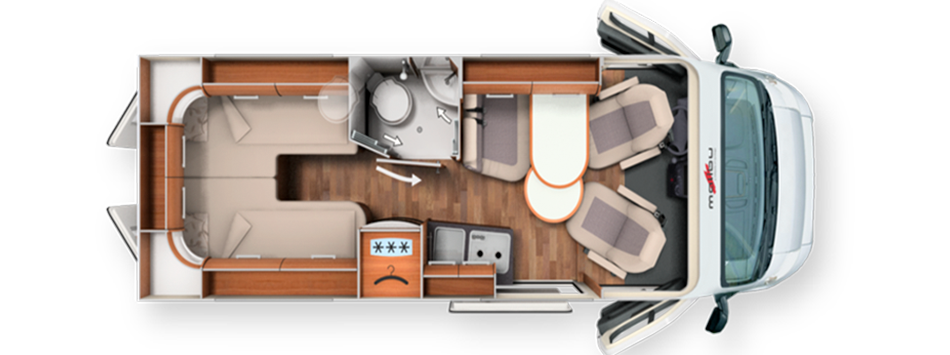 Malibu 600 LE Motorhome Rental layout
