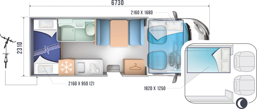 Roller Team Zefiro 675 floorplan